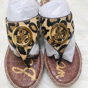 Sam Edelman Leopard Sandals Size 8